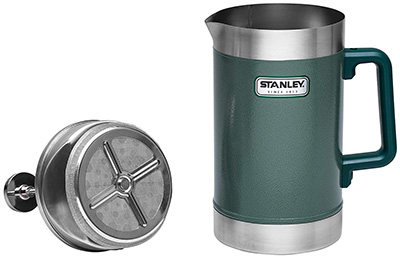 Stanley Classic Vacuum French Press, 48 oz, Hammertone Green: US$52.49.