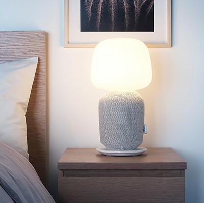 SYMFONISK - Table lamp with WiFi speaker, white: US$179.