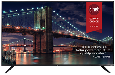 TCL 75-inch Class 6-Series 4K UHD Dolby Vision HDR Roku Smart TV: US$1,899.99.