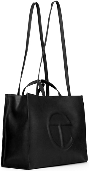 Telfar Large Black Shopping Bag: US$257
