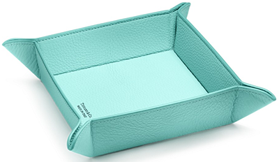 Tiffany & Co. Catchall Tray in Tiffany Blue Leather: US$250.