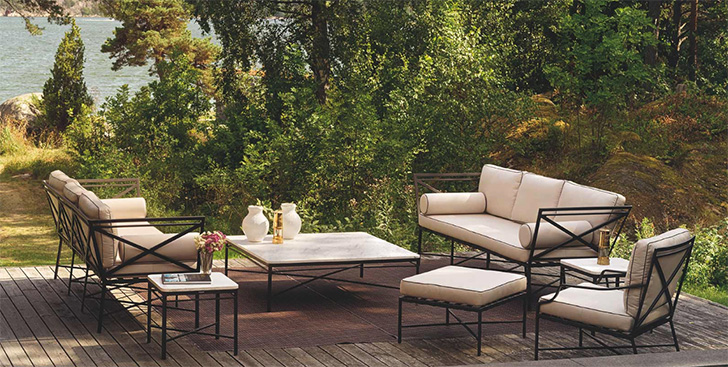 Triconfort 1950 outdoor furniture.
