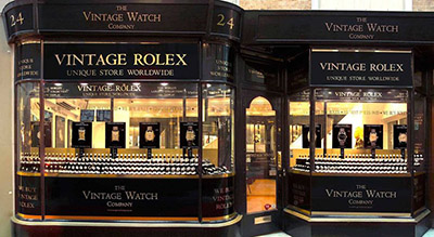 The Vintage Watch Company, 24 Burlington Arcade, London W1J 0PS, U.K.