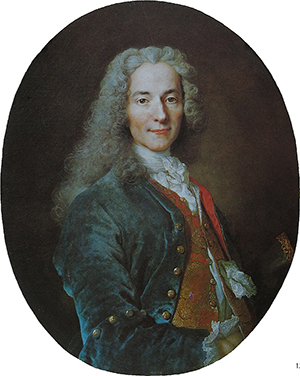 François-Marie Arouet aka Voltaire (around 1724-1725) by Nicolas de Largillière.