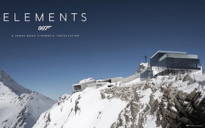 007 Elements Cinematic Installation, Bergbahnen Sölden, Dorfstraße 115, 6450 Sölden, Austria.