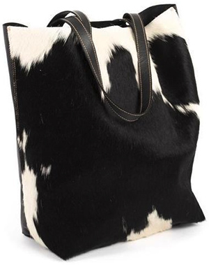 Akubra Darling Tote - Cowhide Black  & White: $349AUD.