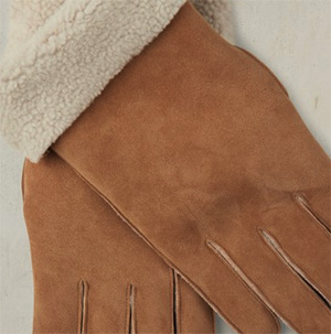 Anderson & Sheppard men's sheepskin gloves - natural: £215.