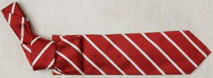 Anderson & Sheppard striped woven tie - red: £130.