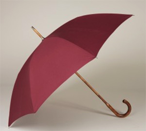 Anderson & Sheppard Cotton Umbrella with Maple Handle - Burgundy: £225.
