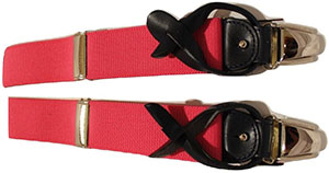 Andrew's Milano Pink Suspenders With Navy Ends: $85 CAD.