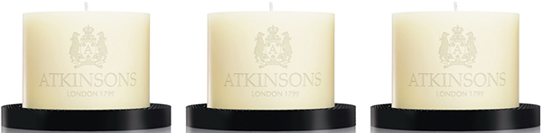 Atkinsons scented candles.
