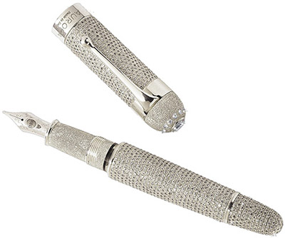 Aurora Diamond fountain pen. The only over 30 carat pen in the world.