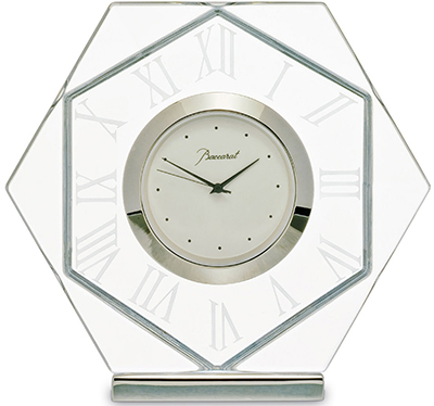 Baccarat Harcourt Abysse clock: US$975.
