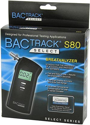 BACtrack S80 Professional Breathalyzer, Portable Breath Alcohol Tester: US$129.99.