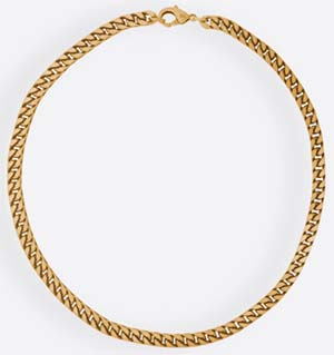 Balenciaga Gold brass chain necklace: US$790.