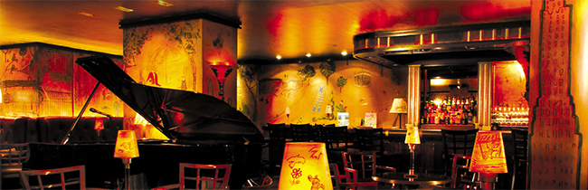 Bemelmans Bar, Ground Floor, The Carlyle, 35 East 76th St., New York City, NY 10021.