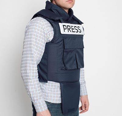 BladeRunner Bullet Proof Press Jacket with Neck & Groin Protection: £720.