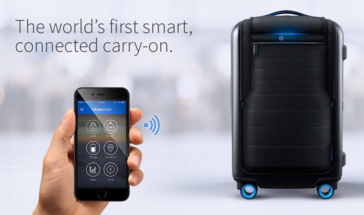 Bluesmart - The World's First Smart Connected Carry-on Suitcase.