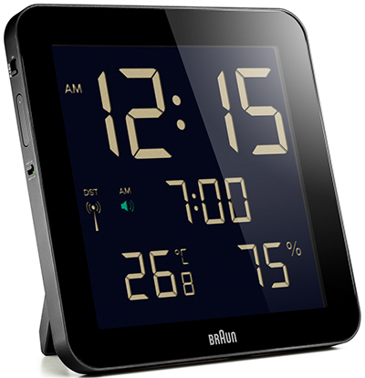 Braun BNC014-RC Digital Global Radio Controlled Wall Clock: €120.