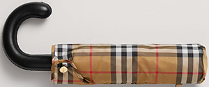 Burberry Vintage Check Folding Umbrella: US$290.