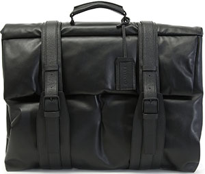 Canali Black Textured Calfskin Leather Garment Bag: US$1,795.