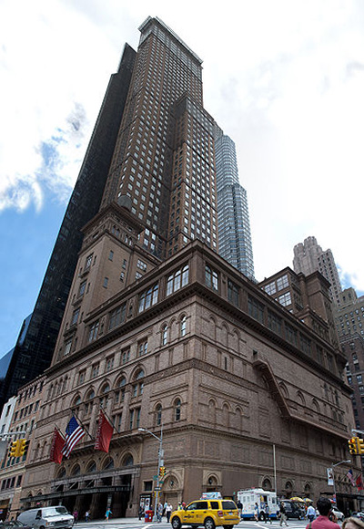 Carnegie Hall, 881 7th Ave / 57th Street (Isaac Stern Place), New York City, NY 10019, U.S.A. Photo by: David Samuel.