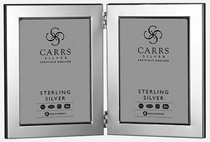 Carrs Silver Modern Flat Photo Frame Wood Back 5×3.5 Sterling Silver: £236.