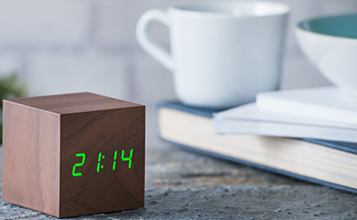 Gingko Cube Walnut Click Clock: US$25.