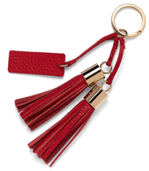 Cuyana Leather Tassel Keychain: US$55.