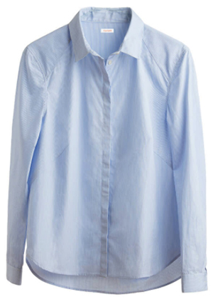 Cuyana Poplin Pleat-Back Shirt: US$135.