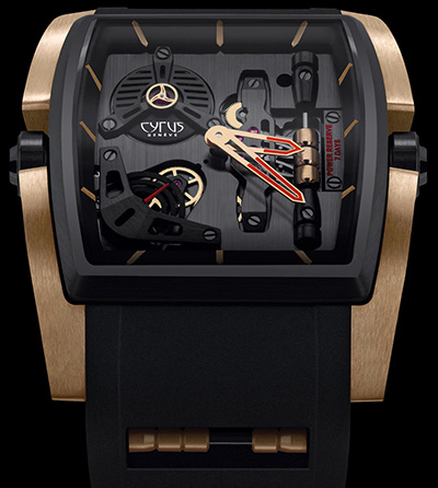 Cyrus Kambys Gold & DLC watch.