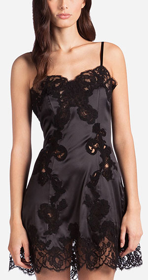Dolce & Gabbana Silk Lingerie Dress with Embroidery: €810.