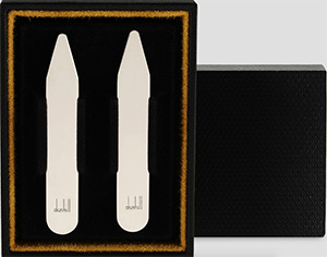 Dunhill Solid Silver Collar Stiffeners: US$150.