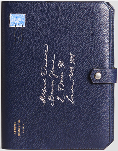 Alfred Dunhill Boston Leather Notebook: US$450.