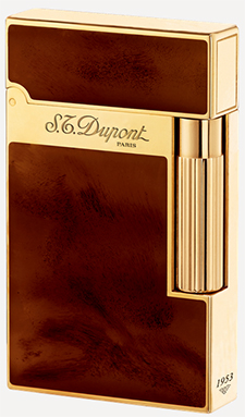 S.T. Dupont Yellow Gold finish Natural Lacquer lighter.