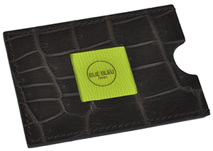 Elie Bleu Credit Card Holder Brown Matt Crocodile (Pistachio): €300.