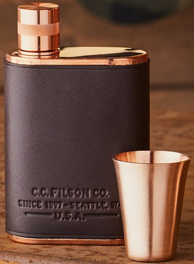 Filson Leather-Wrapped Vermonter Flask: US$345.