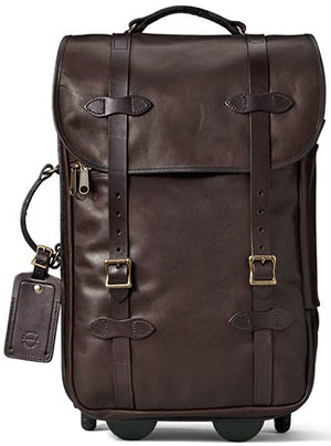 Filson Weatherproof Leather Rolling Carry-On Bag: US$1,295.