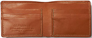 Filson men's Bi-Fold wallet: US$135.