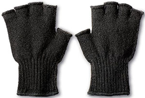 Filson Bison Wool Fingerless women's gloves: US$125.