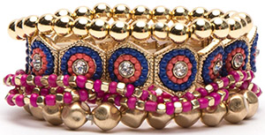 Frances Valentine Sunset Stacked Bracelets: US$65.