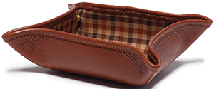 Ghurka Leather Folding Snap Tray No. 58 | Vintage Chestnut: US$175.
