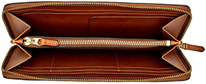 Ghurka women's Leather Travel Wallet | Chestnut: US$495.