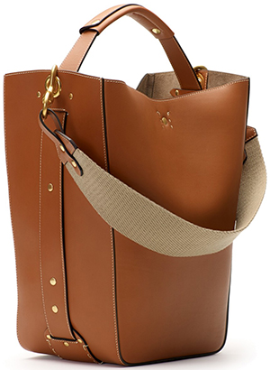 Ghurka Starling Leather Bucket Bag: US$1,495.