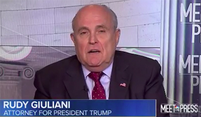 'Truth isn't truth', says Rudy Giuliani.