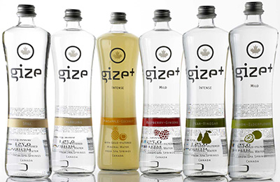 Gize mineral water.