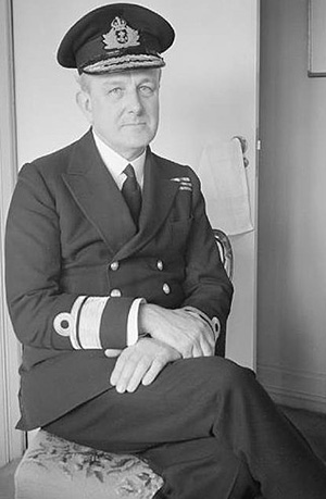 Admiral John Henry Godfrey (1888-1970). Ian Fleming is said to have based James Bond's boss, 'M', on Godfrey.