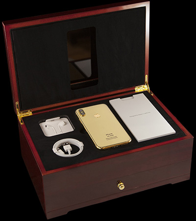 Goldgenie iPhone X Diamond Cluster (5.8-inch) - 24K Gold Edition: £1798.50.