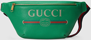 Gucci Print leather belt bag: US$1,290.