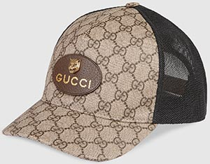 Gucci men's GG Supreme baseball hat: US$460.